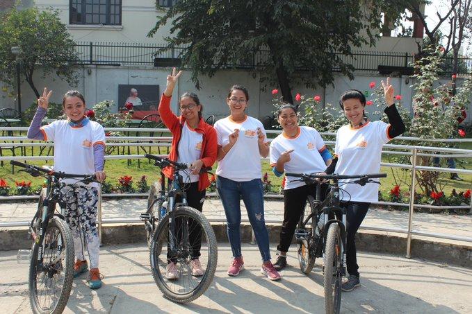 काठमाडौंको पशुपतिनाथबाट राइड थ्रु सिन्धुलीगढी साइकल यात्रा शुरु