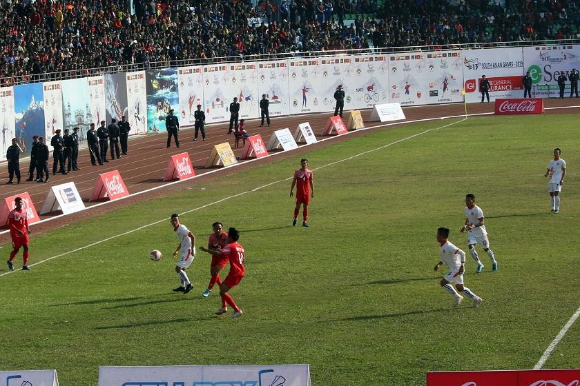 तेह्रौ साग अन्तर्गत पुरुष फुटबलमा नेपाल विजयी