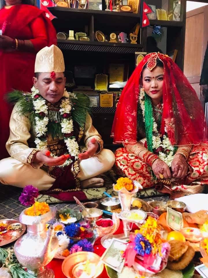 १३औ सागकी स्वर्णपदकधारी कराते खेलाडी  अनुपमा र गुरु धुर्व विवाह बन्धनमा बाँधिए