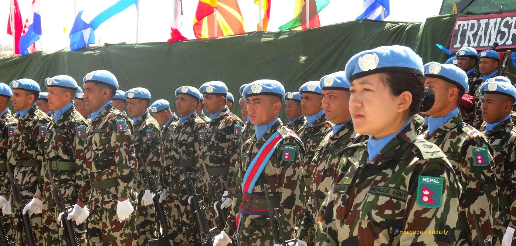 शान्ति सैनिक योगदान गर्ने राष्ट्रहरुको सूचीमा नेपाल तेस्रो स्थानमा